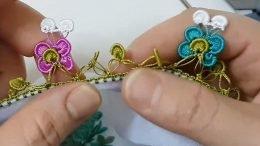Çiçek Arayan Kelebekler Oya Modeli
