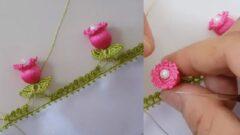 Nar Çiçeği Oya Modeli