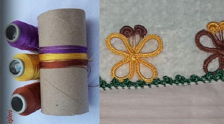 Tuvalet Kağıdı Rulosundan Oya Modeli 1