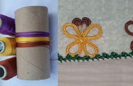 Tuvalet Kağıdı Rulosundan Oya Modeli