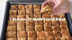 1 Bezeden 50 Kişilik Cevizli Börek
