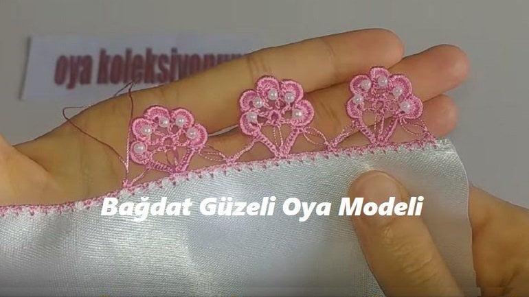 Bağdat Güzeli Oya Modeli 1