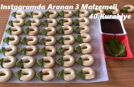 Instagramda Aranan 3 Malzemeli 40 Kurabiye