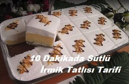 10 Dakikada Sütlü İrmik Tatlısı Tarifi 1