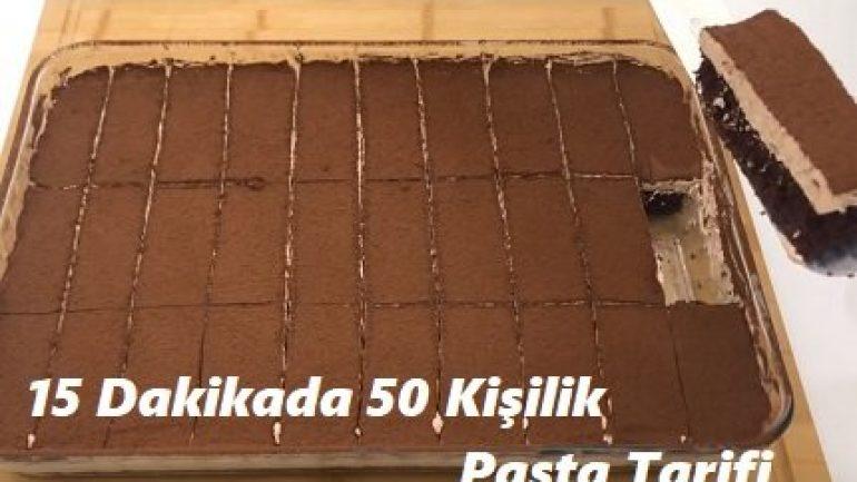 15 Dakikada 50 Kişilik Pasta Tarifi