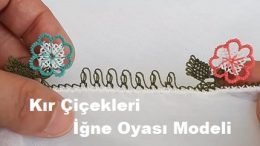 Kır Çiçekli İğne Oyası Modeli