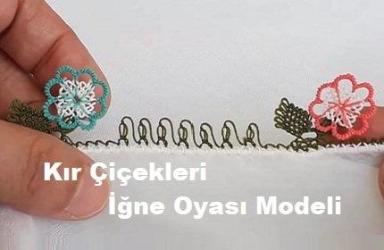 Kır Çiçekli İğne Oyası Modeli 1