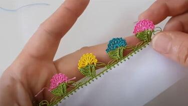 Küstüm Çiçeği Tığ Oyası Modeli 1