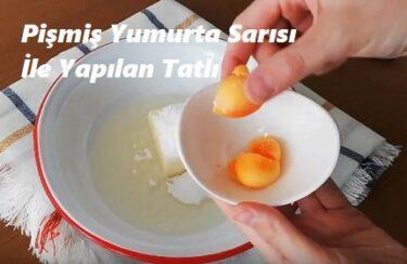 Pişmiş Yumurta Sarısı İle Yapılan Tatlı 1