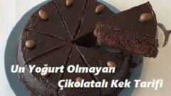 Un Yoğurt Olmayan Çikolatalı Kek Tarifi