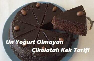Un Yoğurt Olmayan Çikolatalı Kek Tarifi 1