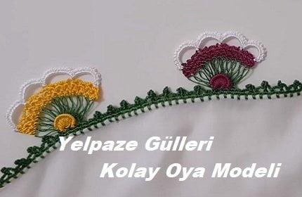 Yelpaze Gülleri Kolay Oya Modeli 1