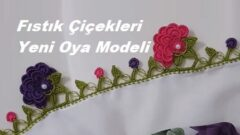 Fıstık Çiçekleri Yeni Oya Modeli