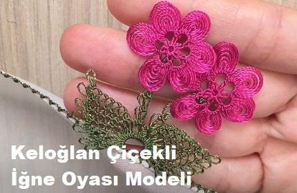 Keloğlan Çiçekli İğne Oyası Modeli 1