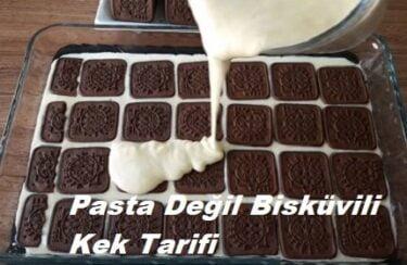 Pasta Değil Bisküvili Kek Tarifi 1