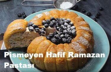Pişmeyen Hafif Ramazan Pastası 1