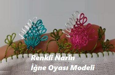 Renkli Narin İğne Oyası Modeli 1