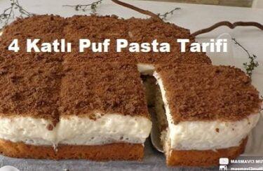 4 Katlı Puf Pasta Tarifi 1