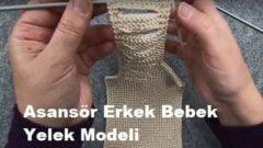 Asansör Erkek Bebek Yelek Modeli