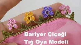Bariyer Çiçeği Tığ Oya Modeli