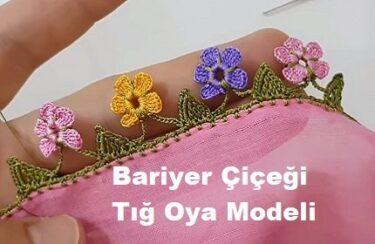 Bariyer Çiçeği Tığ Oya Modeli 1