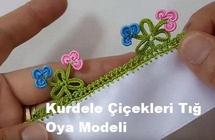 Kurdele Çiçekleri Tığ Oya Modeli 1