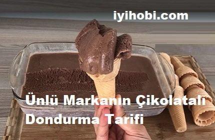 Ünlü Markanın Çikolatalı Dondurma Tarifi 1