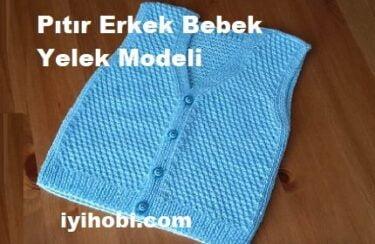 Pıtır Erkek Bebek Yelek Modeli 1