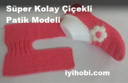 Süper Kolay Çiçekli Patik Modeli 1
