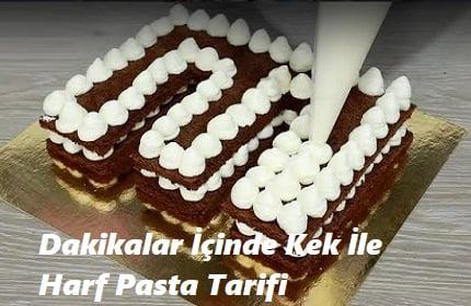 Dakikalar İçinde Kek İle Harf Pasta Tarifi 1