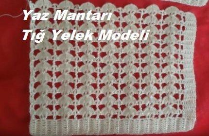 Yaz Mantarı Tığ Yelek Modeli