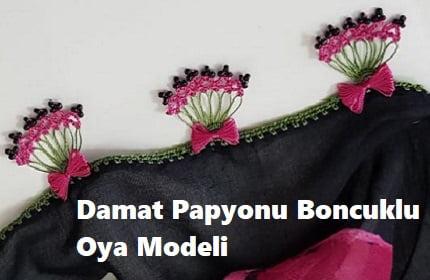 Damat Papyonu Boncuklu Oya Modeli 1
