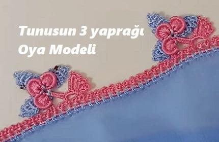 Tunusun 3 yaprağı Oya Modeli 1
