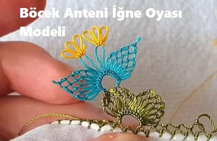 Böcek Anteni İğne Oyası Modeli 1