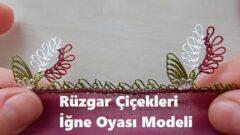 Rüzgar Çiçekleri İğne Oyası Modeli