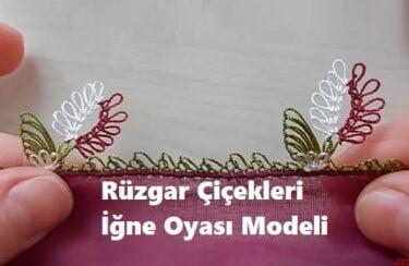 Rüzgar Çiçekleri İğne Oyası Modeli 1