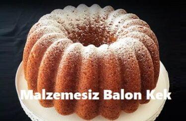 Malzemesiz Balon Kek 1