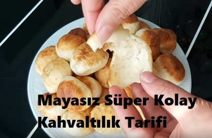 Mayasız Süper Kolay Kahvaltılık Tarifi 1