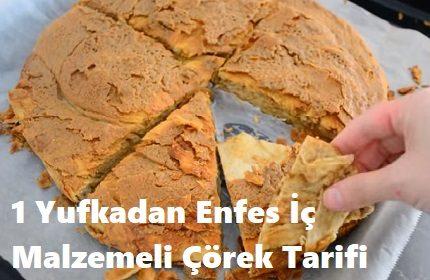 1 Yufkadan Enfes İç Malzemeli Çörek Tarifi
