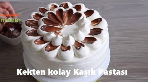Kekten kolay Kaşık Pastası 1