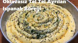 Oklavasız Tel Tel Ayrılan Ispanak Böreği