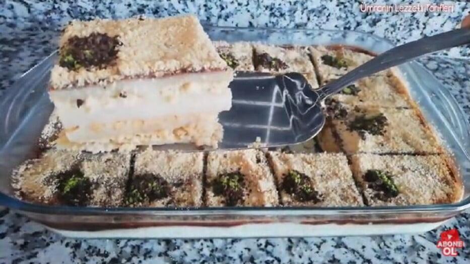 Dünyanın En Kolay Tatlısı Diyeceğiniz Bisküvili Pasta 1